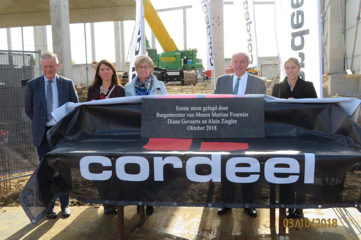 ZIEGLER pose ce 3 octobre 2018 la première pierre d'une extension logistique à Menen-Lar